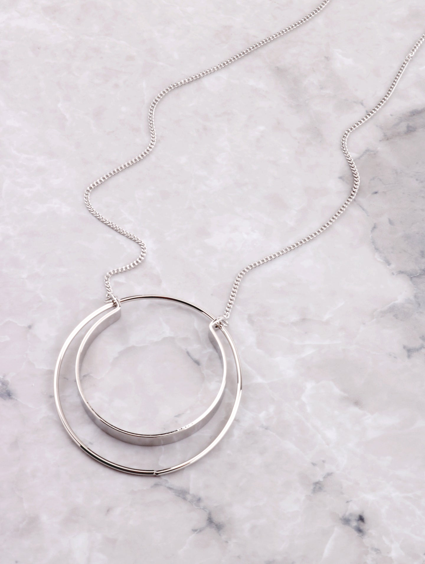 Double Loop Necklace Anarchy Street Silver