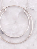 Double Loop Necklace Anarchy Street Silver - Details