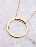 Hoop Layering Necklace Anarchy Street Gold - Details