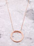 Hoop Layering Necklace Anarchy Street Rosegold