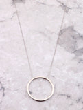 Hoop Layering Necklace Anarchy Street Silver