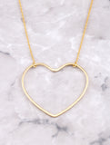 Open Heart Pendant Necklace Anarchy Street Gold