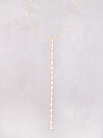 Opulent Lariat Necklace Anarchy Street Gold - Details