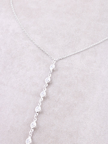 Opulent Lariat Necklace Anarchy Street Silver