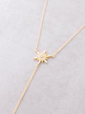 Starburst Lariat Necklace Anarchy Street Gold - Details