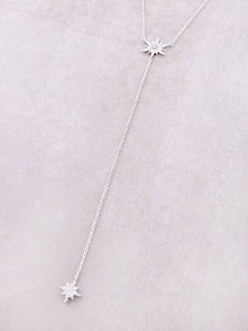 Starburst Lariat Necklace Anarchy Street Silver