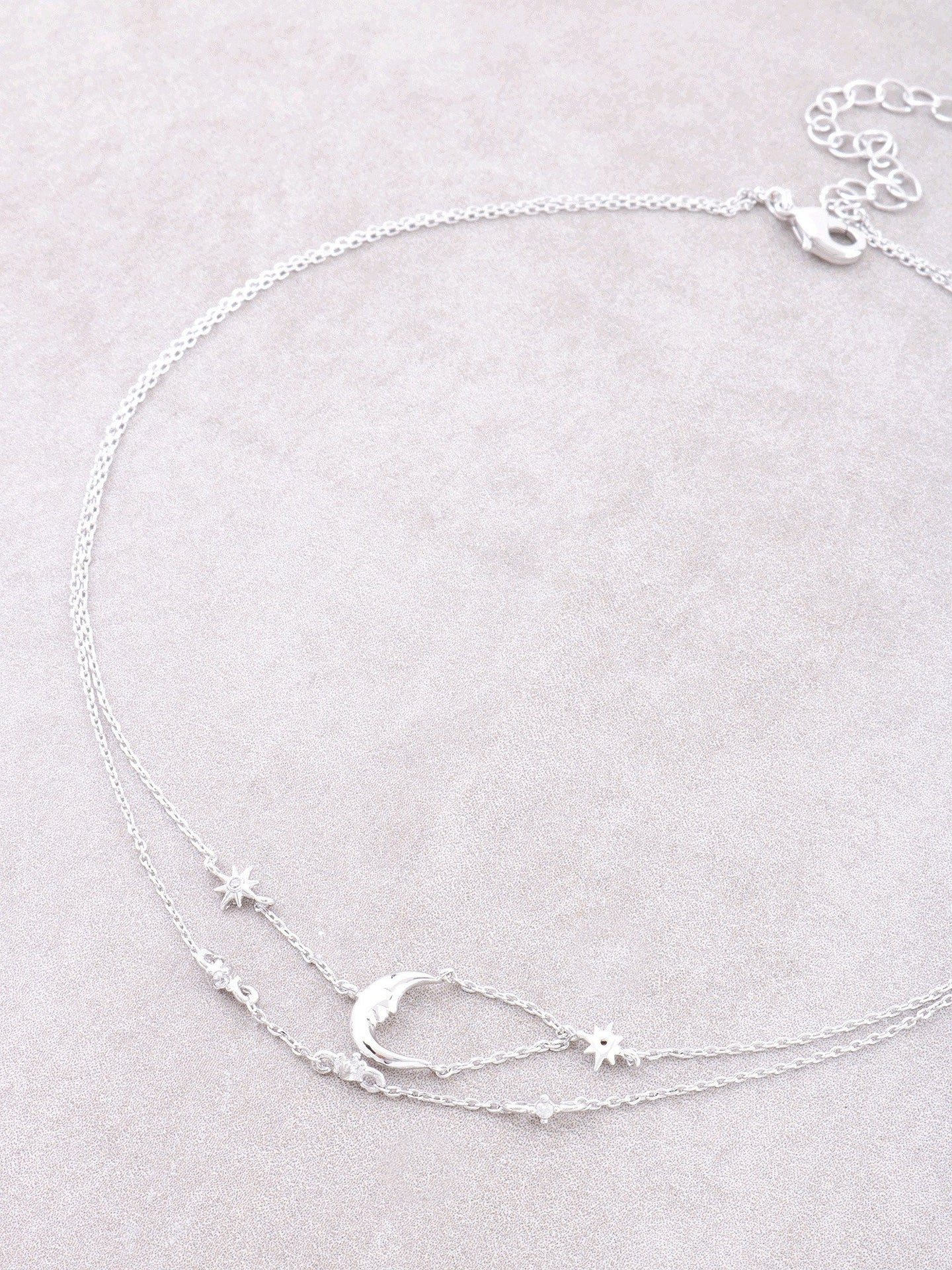 Quarter Moon Double Choker Anarchy Street Silver
