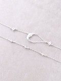 Quarter Moon Double Choker Anarchy Street Silver - Details