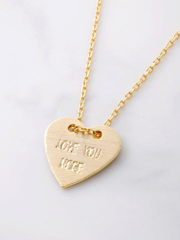 Love You More Necklace Anarchy Street Gold - Details