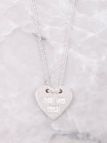 Love You More Necklace Anarchy Street Silver
