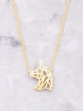 Geometric Unicorn Necklace Anarchy Street Gold