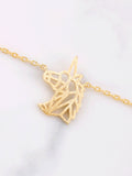 Geometric Unicorn Necklace Anarchy Street Gold - Details