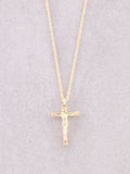 Crucifix Necklace Anarchy Street Gold