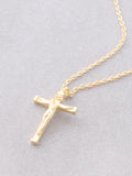 Crucifix Necklace Anarchy Street Gold - Details