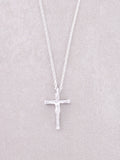Crucifix Necklace Anarchy Street Silver