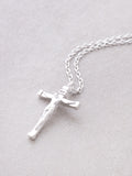 Crucifix Necklace Anarchy Street Silver - Details