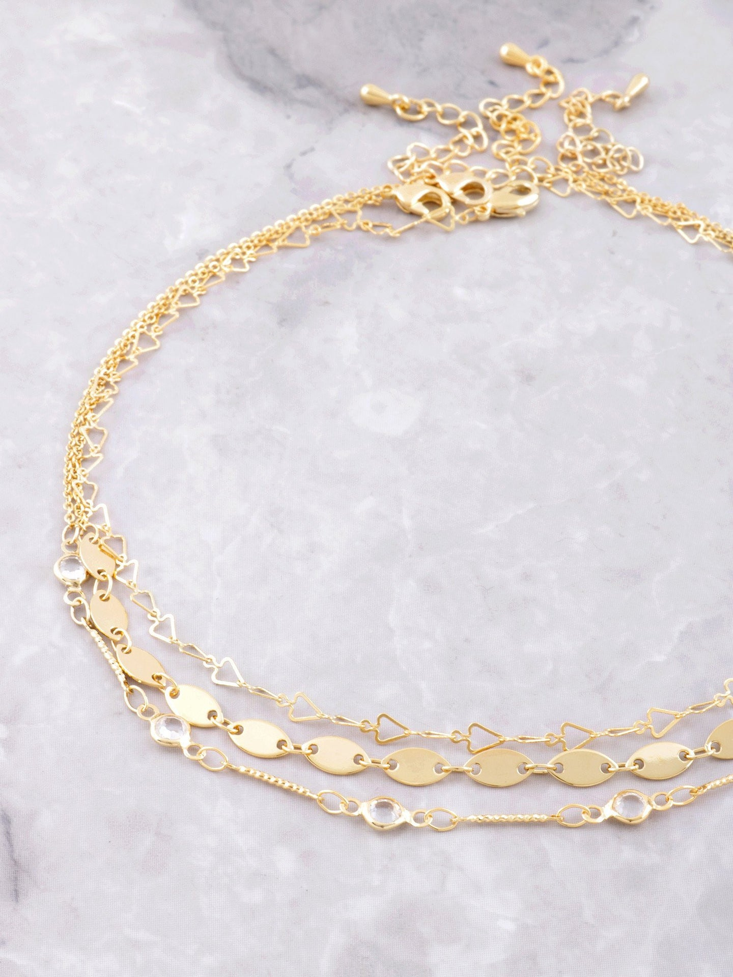 Streamer Choker Set Anarchy Street Gold