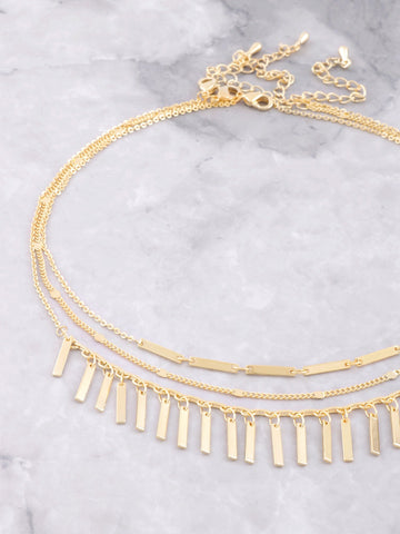 Hanging Blocks Choker Set Anarchy Street Gold