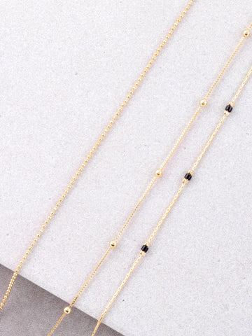 Dainty Triple Choker Set Anarchy Street Black - Details