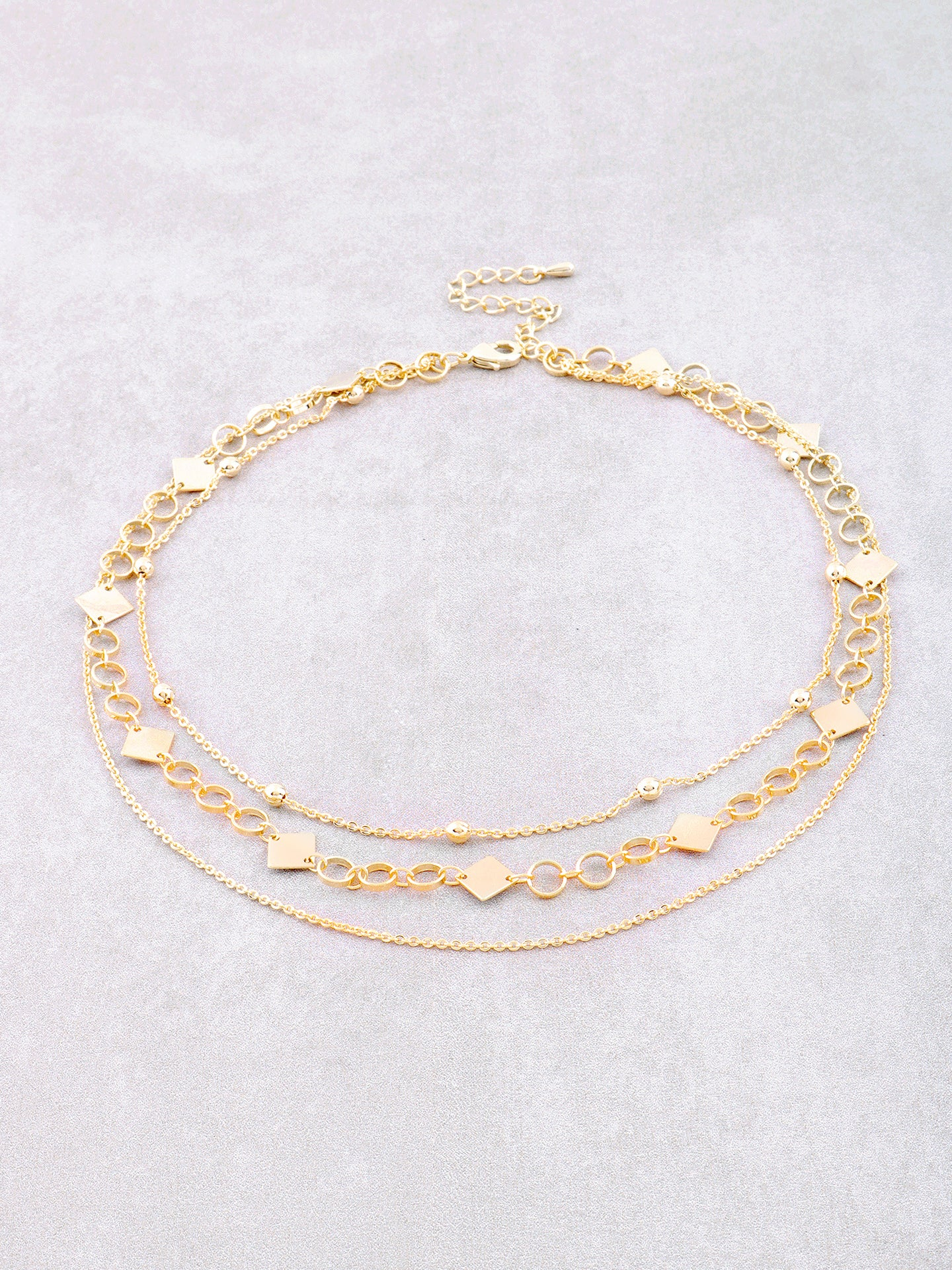 Diamond Looped Triple Choker