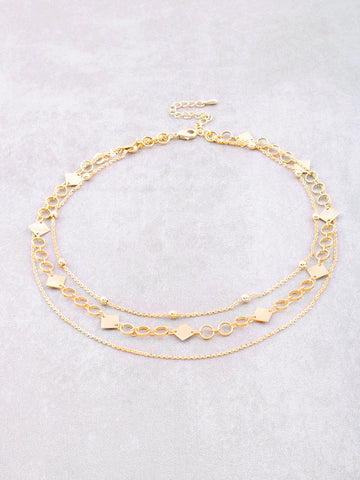 Diamond Looped Triple Choker Anarchy Street Gold