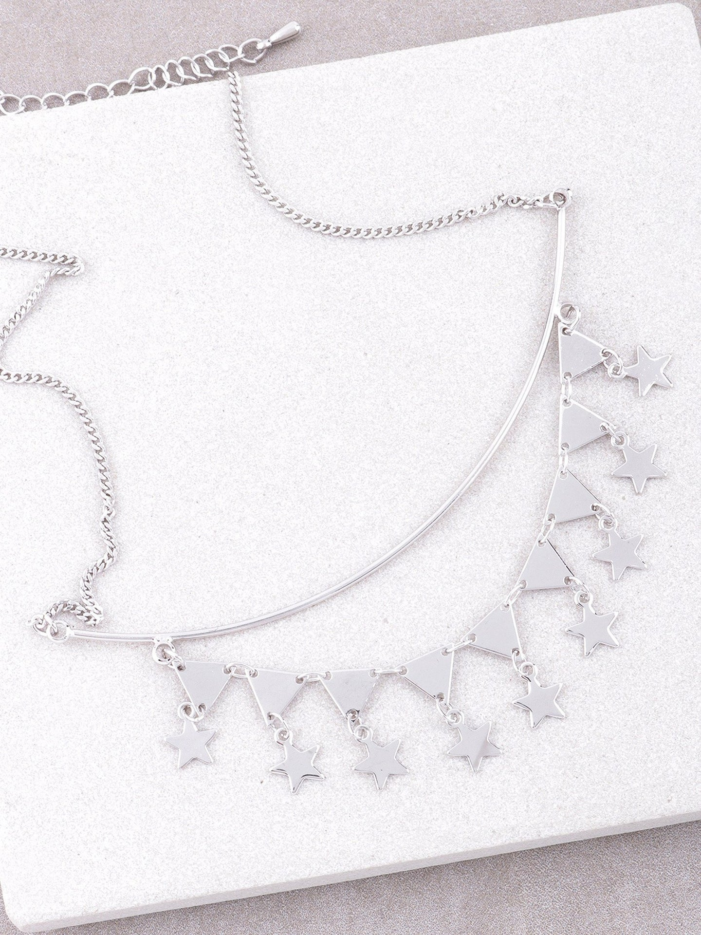 Pyramid Star Necklace Anarchy Street Silver