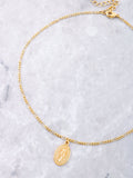 Mary Pendant Choker Anarchy Street Gold