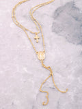 Dainty Cross Medallion Choker Anarchy Street Gold