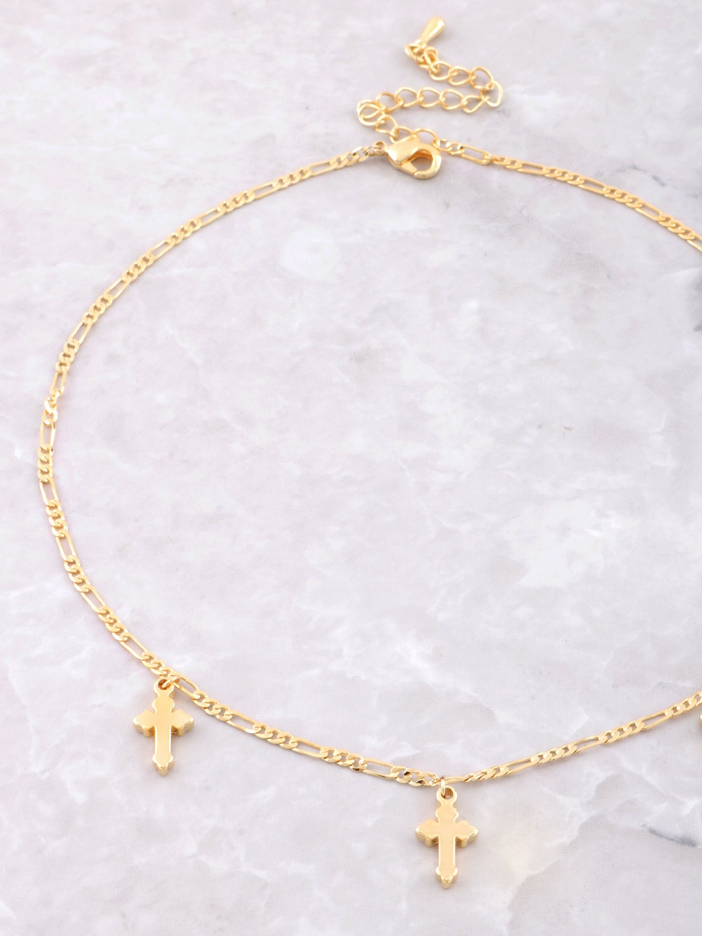 Triple Cross Choker Anarchy Street Gold