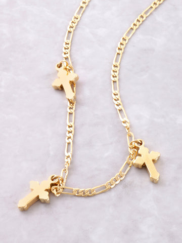 Triple Cross Choker Anarchy Street Gold - Details