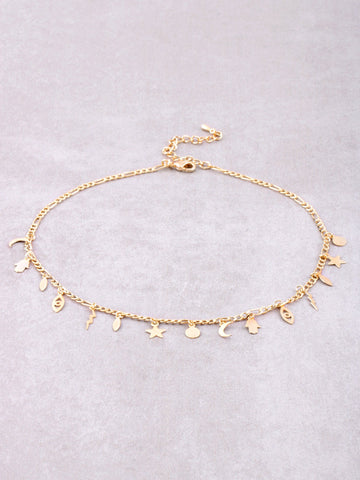 Protect Me Charm Choker Anarchy Street Gold - Details