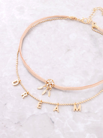 Inspirational Choker Anarchy Street Gold