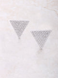 Pave Triangle Earrings