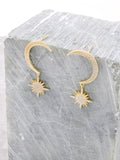 Lunar Eclipse Sterling Silver Earrings Anarchy Street Gold
