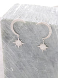 Lunar Eclipse Sterling Silver Earrings Anarchy Street Silver