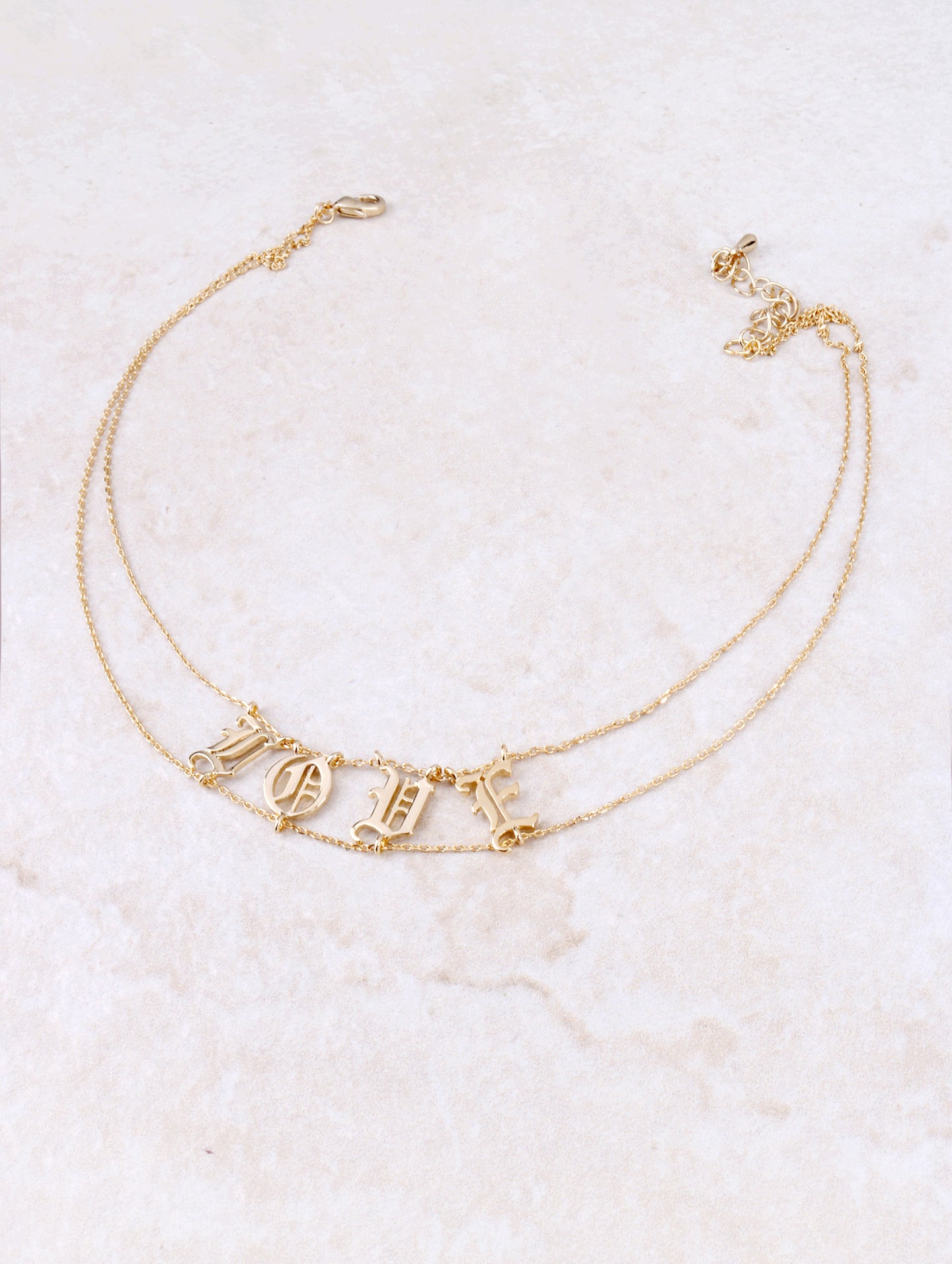 Savage And Love Tattoo Necklace Anarchy Street Gold