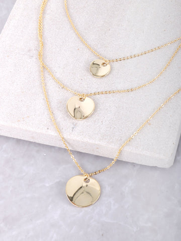 Mini Coin Layered Necklace Anarchy Street Gold