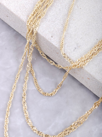 Levels Layered Necklace Anarchy Street Gold - Details