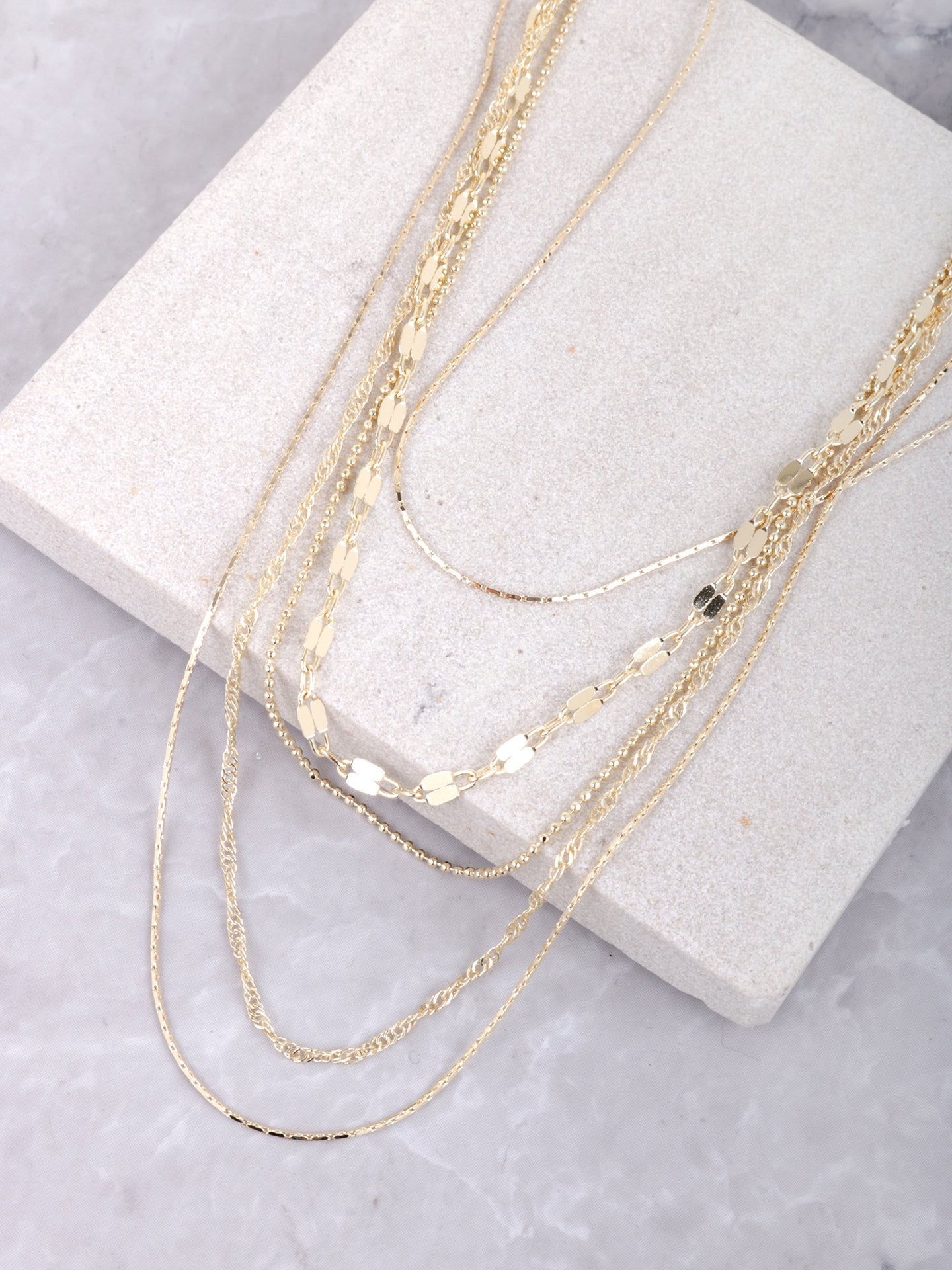 Scattered Layered Necklace Anarchy Street Gold