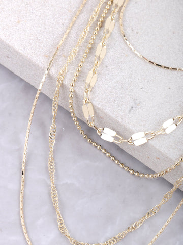 Scattered Layered Necklace Anarchy Street Gold - Details
