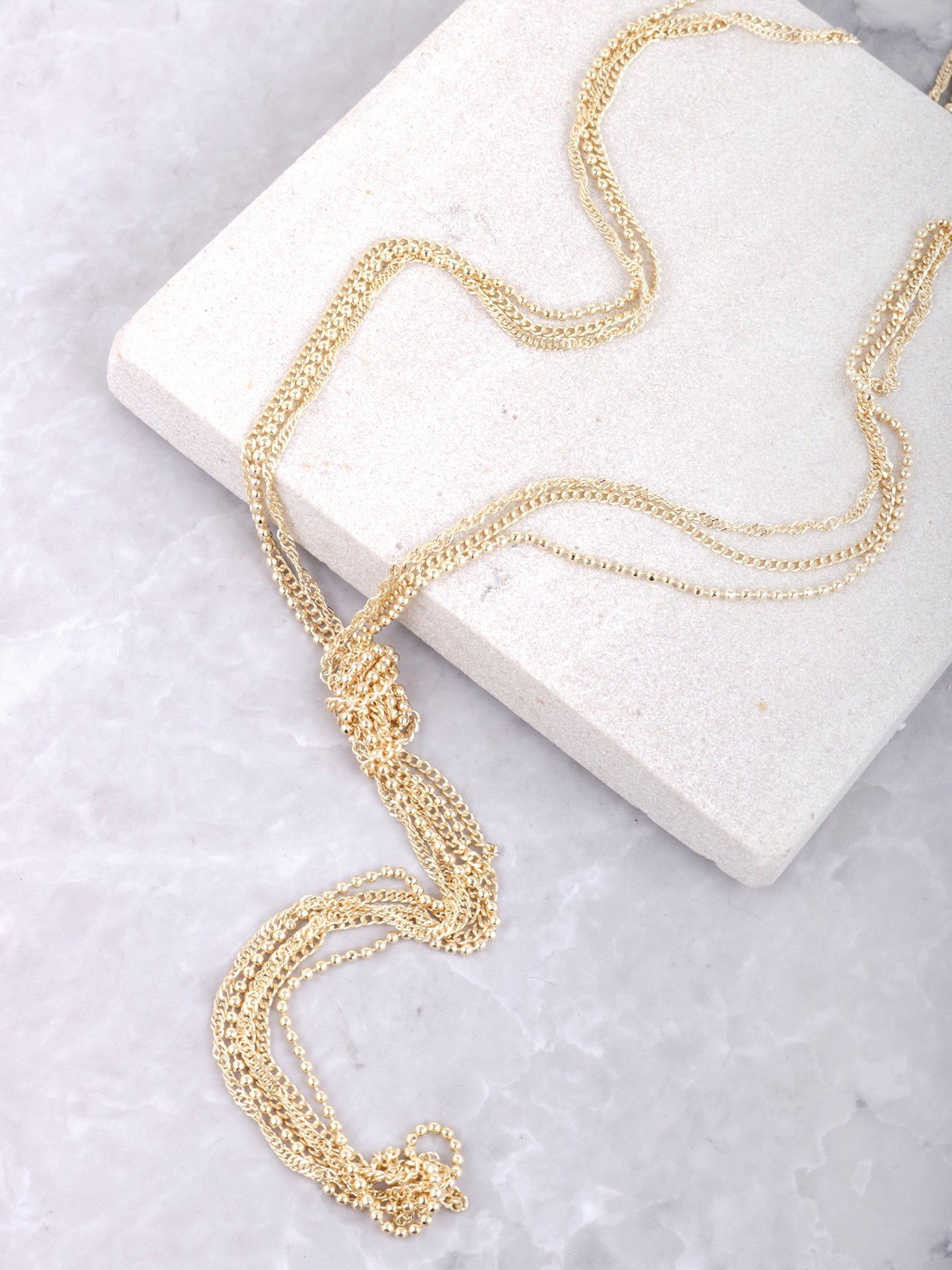 Knotted Layered Necklace Anarchy Street Gold