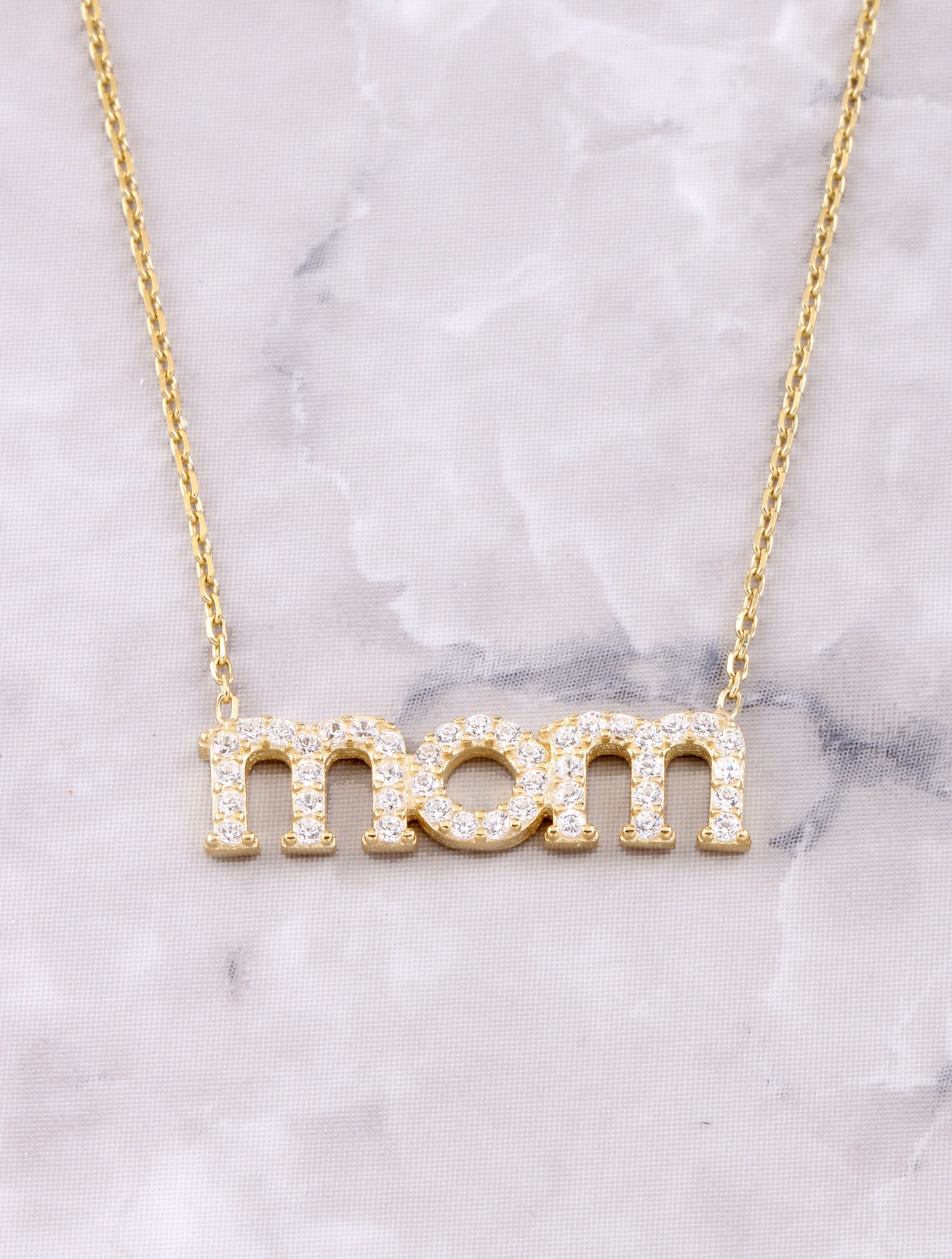 Pave Mom Necklace Anarchy Street Gold