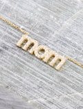 Pave Mom Necklace Anarchy Street Gold - Details
