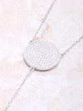 Pave Circle Lariat Necklace Anarchy Street Silver - Details