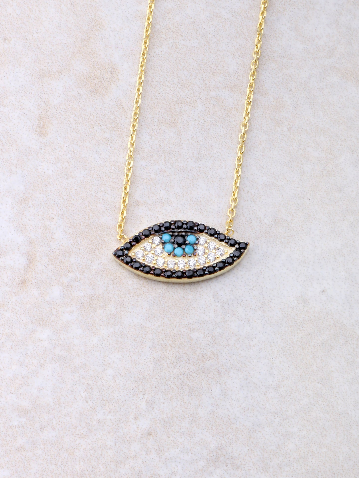 Lucky Evil Eye Necklace Anarchy Street Gold