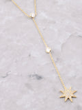 Sterling Silver Shooting Star Necklace Anarchy Street Gold - Details