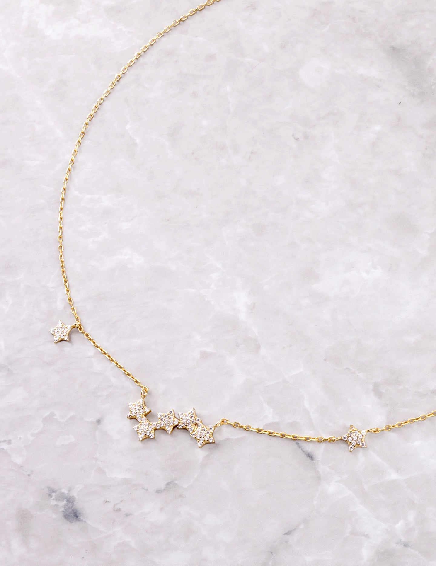 Star Clustered Necklace Anarchy Street Gold