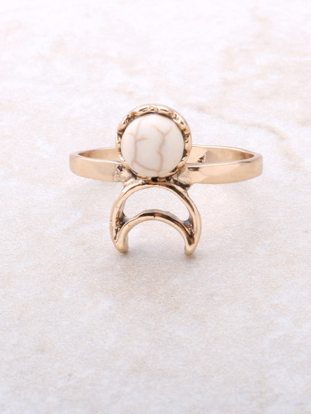 Desert Crescent Ring Anarchy Street Ivory