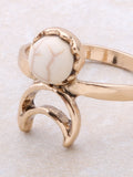 Desert Crescent Ring Anarchy Street Ivory - Details