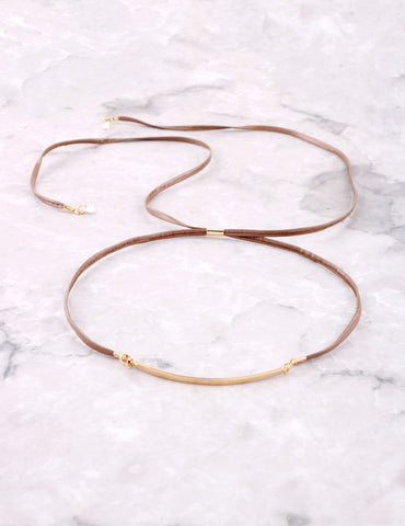 Crystal Tipped Choker Anarchy Street Brown